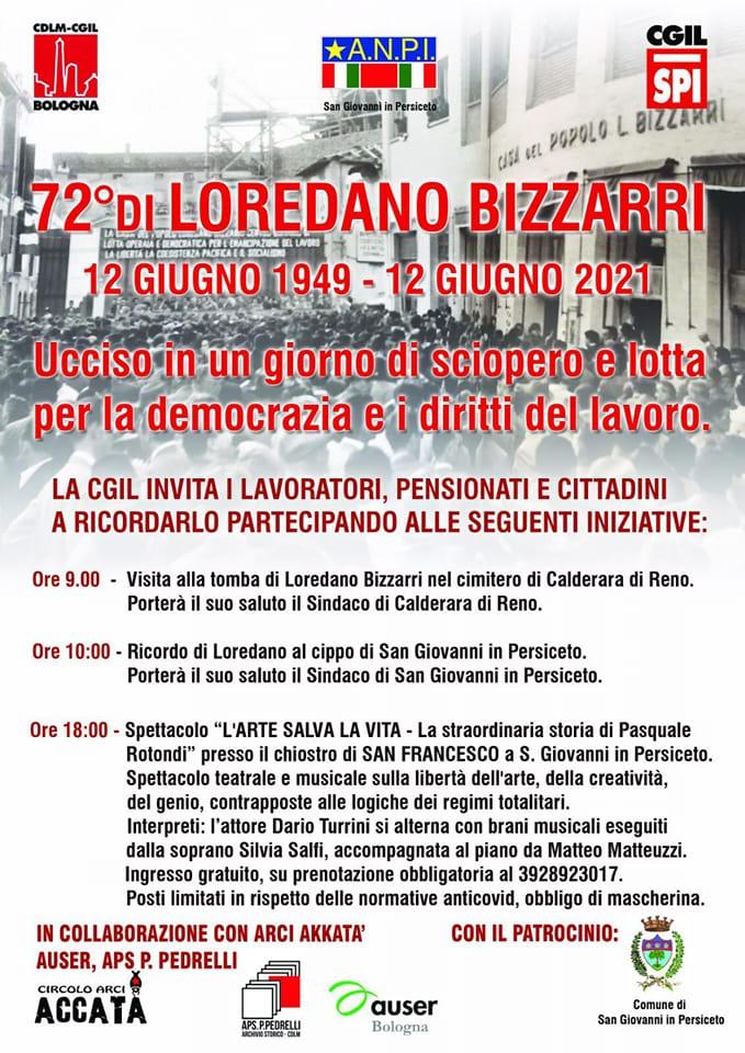 Commemorazione di Loredano Bizzarri